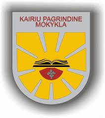 Kairiu mokyklos logotipas